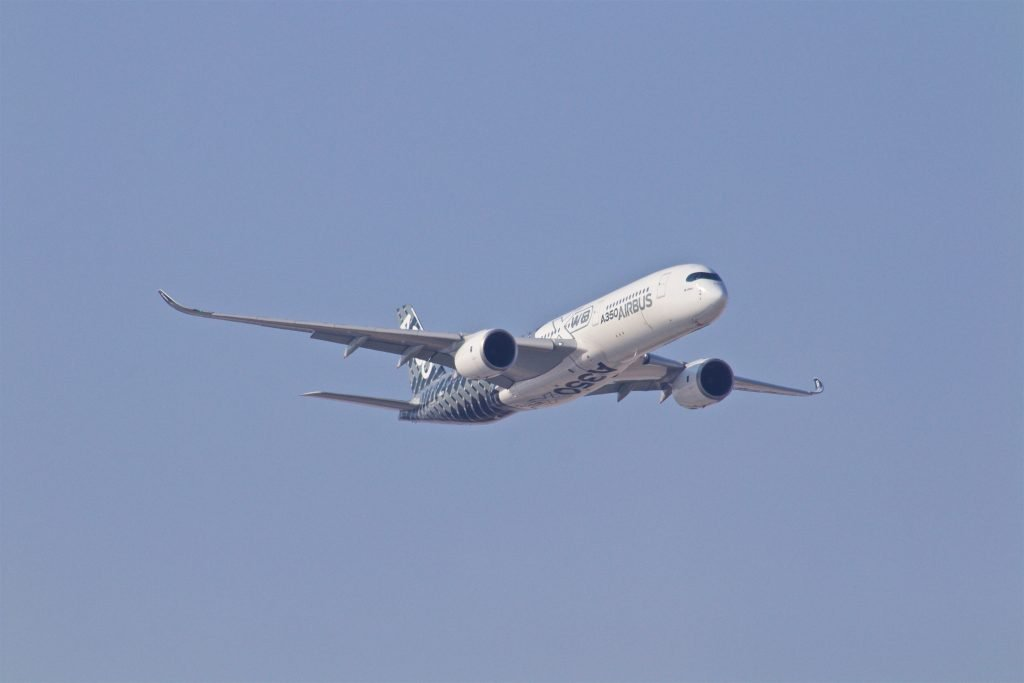 white airplane taking off during daytime leave america