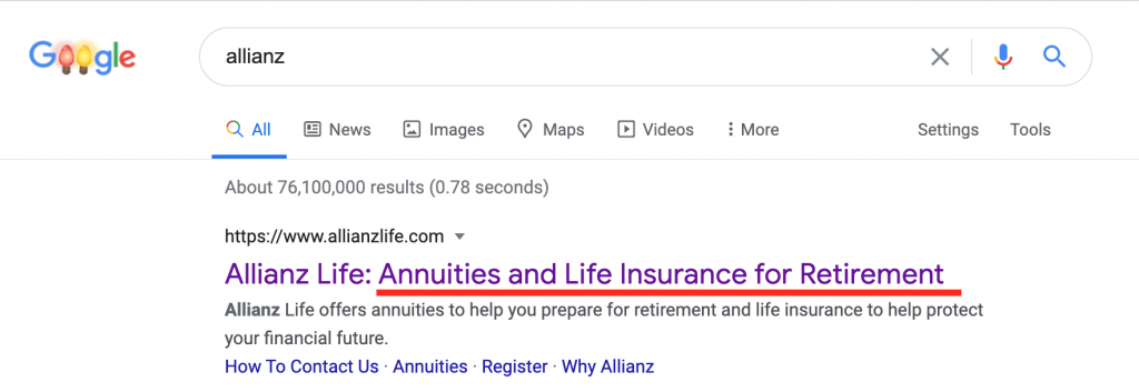 Allianz google