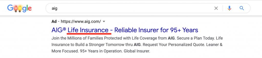 AIG google