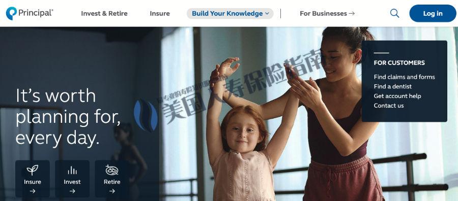 Principal insurance website